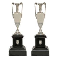 Pair of French 19th Century Neoclasssical Style 'Grand Tour' Vases