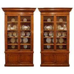 Pair of French 19th Century Oak Cabinets