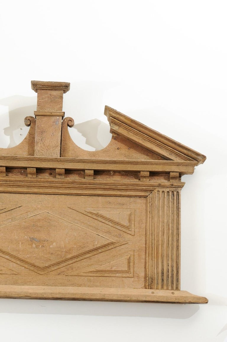 Pair of French 19th Century over Door Panels with Broken Pediments and Pilasters For Sale 5