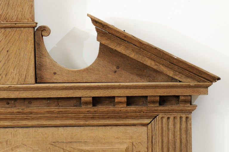 Pair of French 19th Century over Door Panels with Broken Pediments and Pilasters For Sale 6
