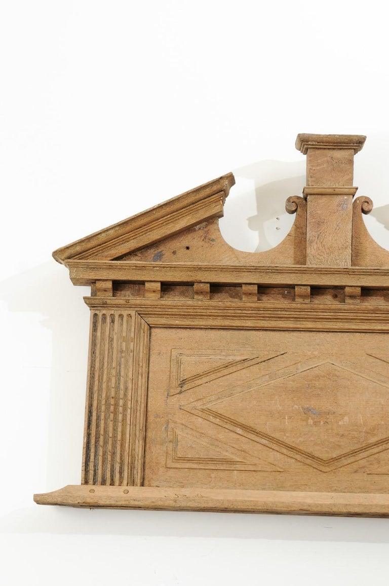 Pair of French 19th Century over Door Panels with Broken Pediments and Pilasters For Sale 4