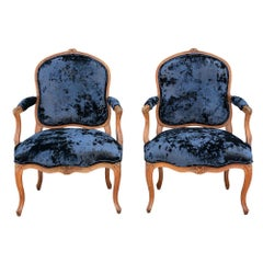 Pair of French 19th Century Provincial Style Armchairs
