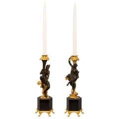 Pair of French 19th Century Renaissance Style Candlesticks