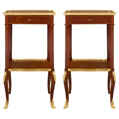 Pair of French 19th Century Transitional St. Side Tables, Attributed to Dasson