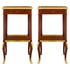 Pair of French 19th Century Transitional Style Side Tables, Attributed to Dasson