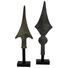 Pair of French 19th Century Zinc Roof Finials
