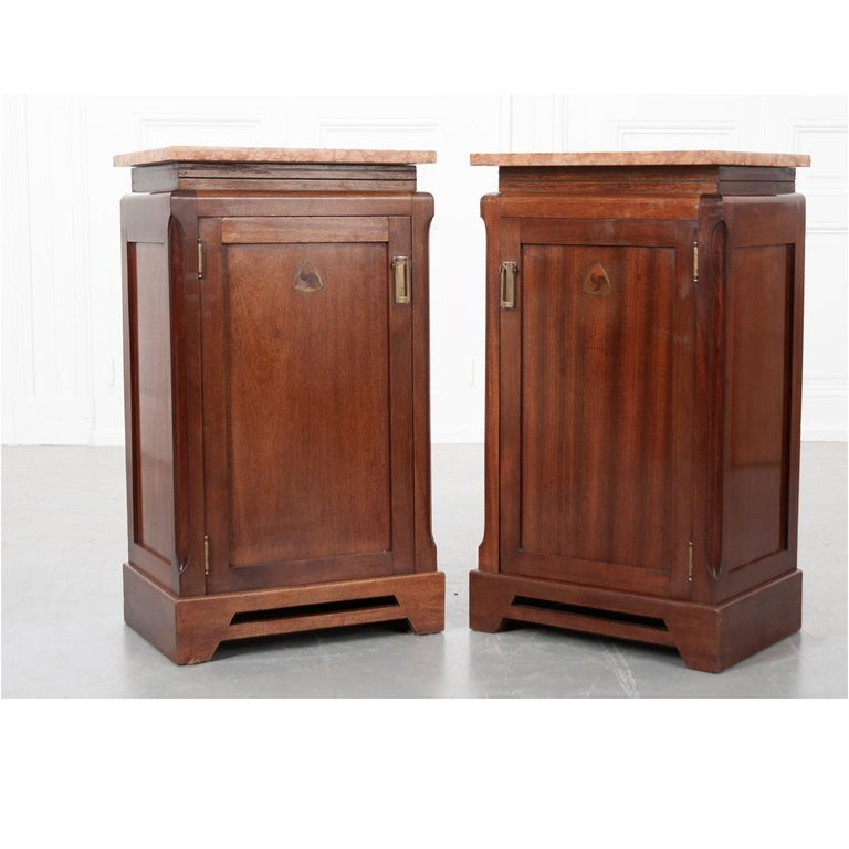 Pair of French 20th Century Art Deco Bedside Cabinets For Sale 6