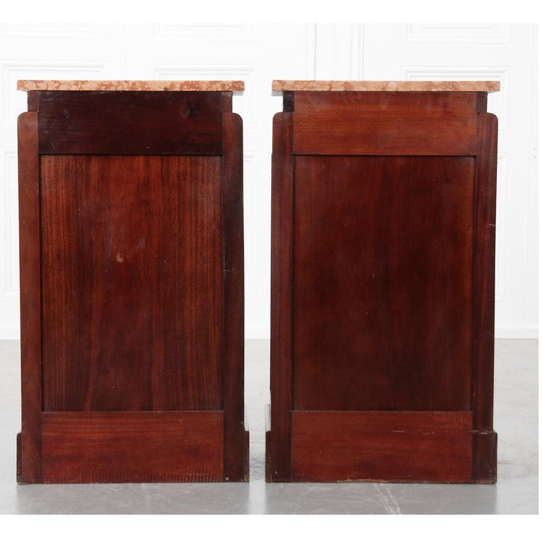 Pair of French 20th Century Art Deco Bedside Cabinets For Sale 7