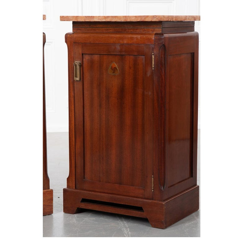 Pair of French 20th Century Art Deco Bedside Cabinets For Sale 1