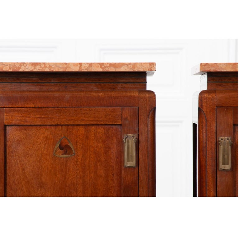 Pair of French 20th Century Art Deco Bedside Cabinets For Sale 4