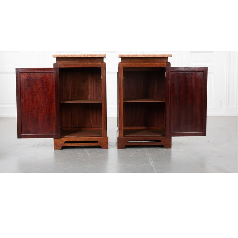 Pair of French 20th Century Art Deco Bedside Cabinets For Sale 5
