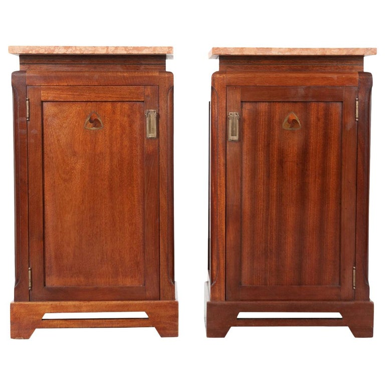 Pair of French 20th Century Art Deco Bedside Cabinets For Sale