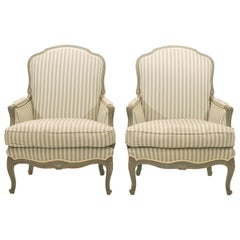 Pair of French 20th Century Bergère Chairs