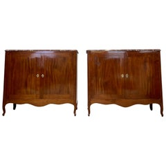 Pair of French Antique Buffets in Stunning Mahogany