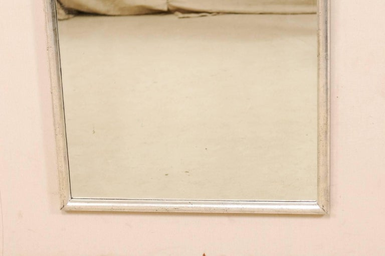 Pair Of French Antique Five Foot Tall Mirrors With Elegant