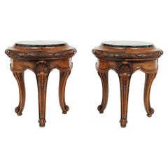 Pair of French Antique Louis XVI Garden Stools