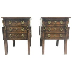 Pair of French Antique Style Nightstands