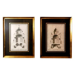 Pair of French Architecture Prints by J.F. Neufforge