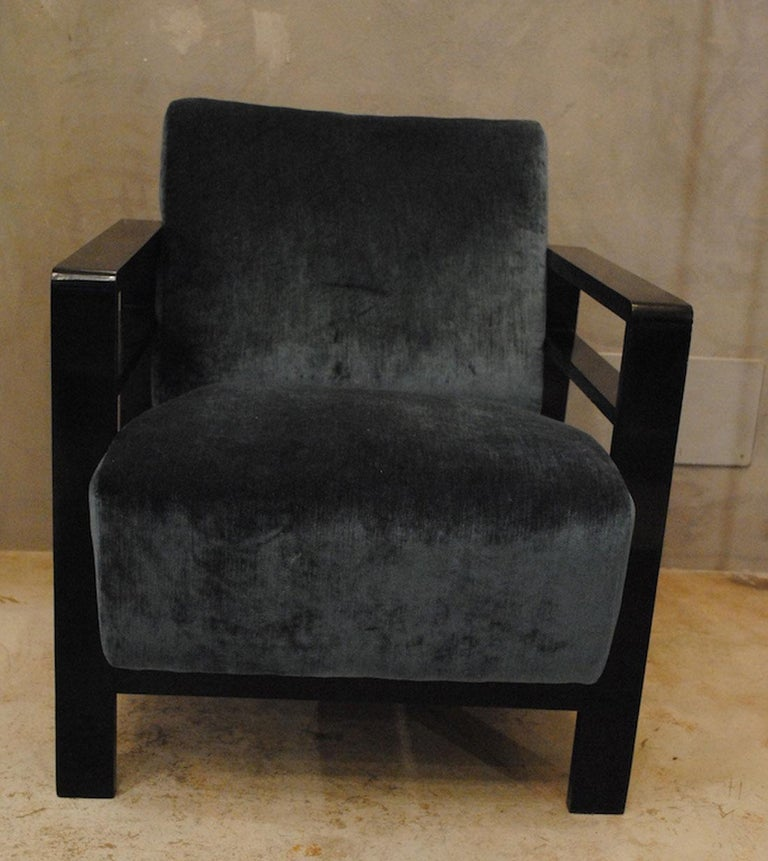 Pair of French Armchairs Belonging to the Rationalist Current, 1940s In Excellent Condition For Sale In bari, IT