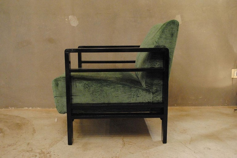 Pair of French Armchairs Belonging to the Rationalist Current, 1940s For Sale 1