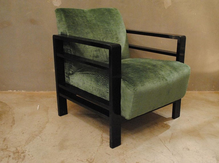 Pair of French Armchairs Belonging to the Rationalist Current, 1940s For Sale 2
