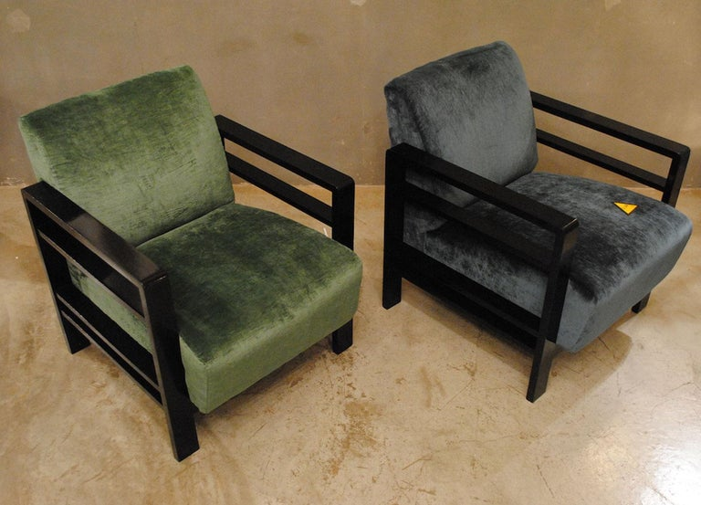 Pair of French Armchairs Belonging to the Rationalist Current, 1940s For Sale 3