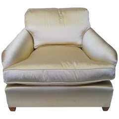 Pair of French Armchairs in Champagne Satin