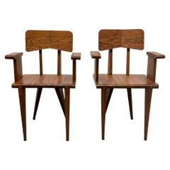 Pair of French Armchairs in the Manner of Jean Prouvé
