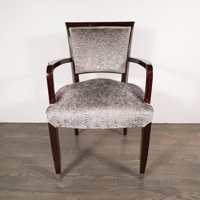 Pair of French Art Deco Armchairs in Mahogany by Jules Leleu In Excellent Condition For Sale In New York, NY