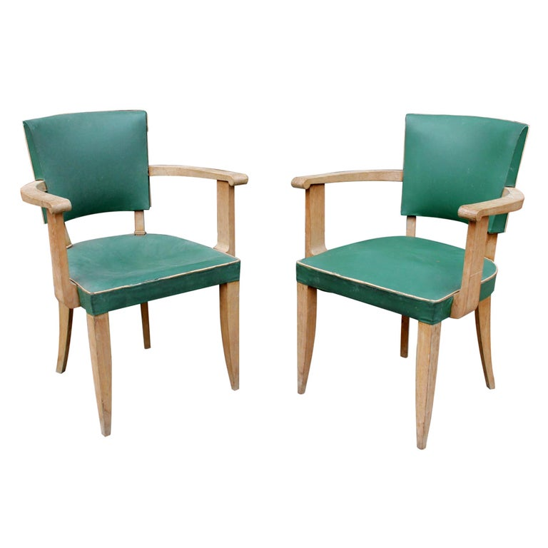 Pair of French Art Deco Armchairs For Sale