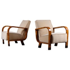 Pair of French Art Deco Armchairs, 1930s