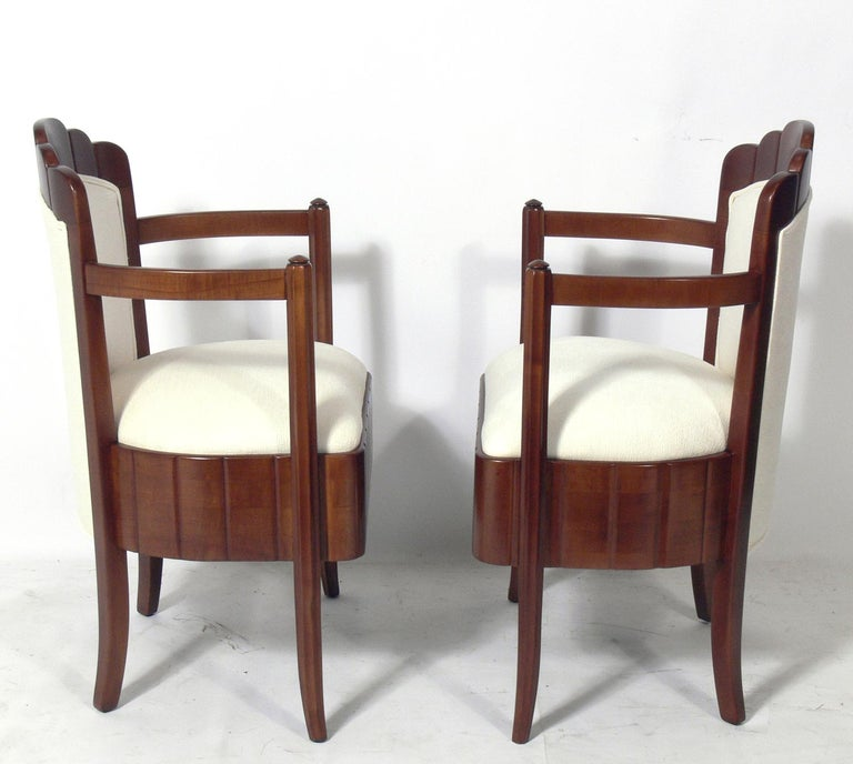 Pair of French Art Deco Armchairs by Pierre Patout for the Ile de France In Good Condition For Sale In Atlanta, GA