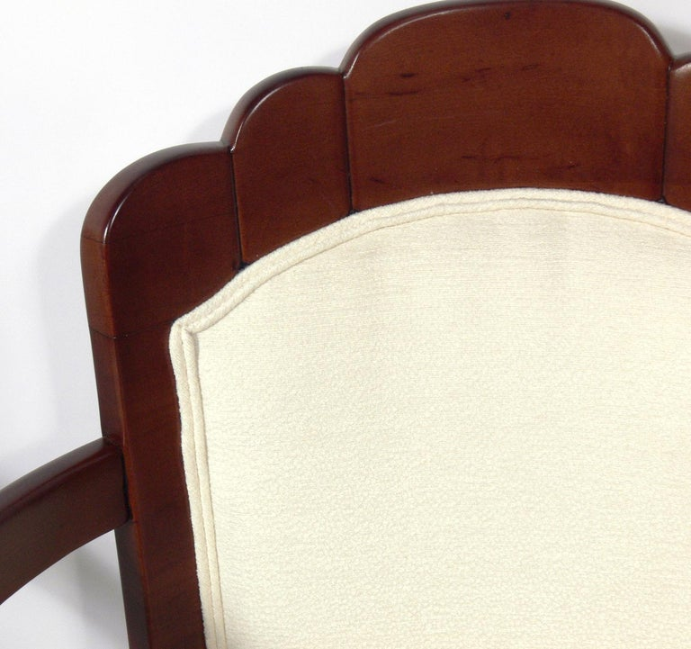 Upholstery Pair of French Art Deco Armchairs by Pierre Patout for the Ile de France For Sale
