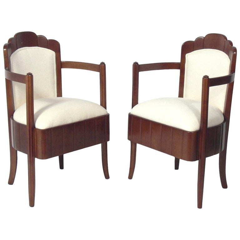 Pair of French Art Deco Armchairs by Pierre Patout for the Ile de France For Sale