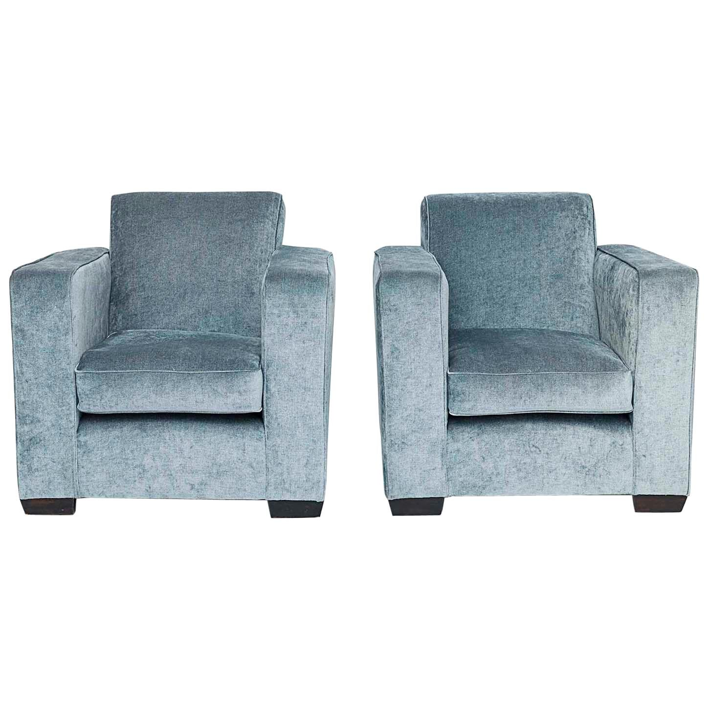 """Pair of French """"Art Deco"""" Armchairs"""