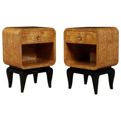 Pair of French Art Deco Bedside Tables