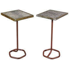 Pair of French Art Deco Cafe Tables by Cre-Rossi