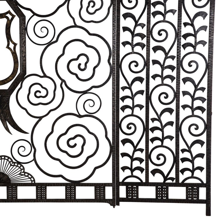 Pair of French Art Deco Gates In Good Condition For Sale In Gloucestershire, GB