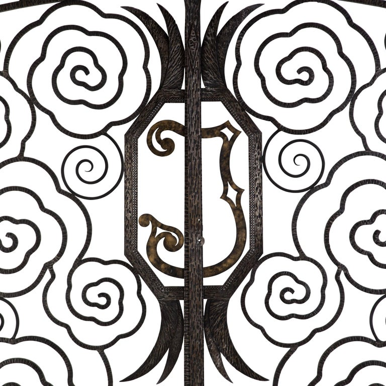 Pair of French Art Deco Gates For Sale 1