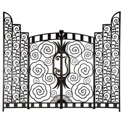 Pair of French Art Deco Gates