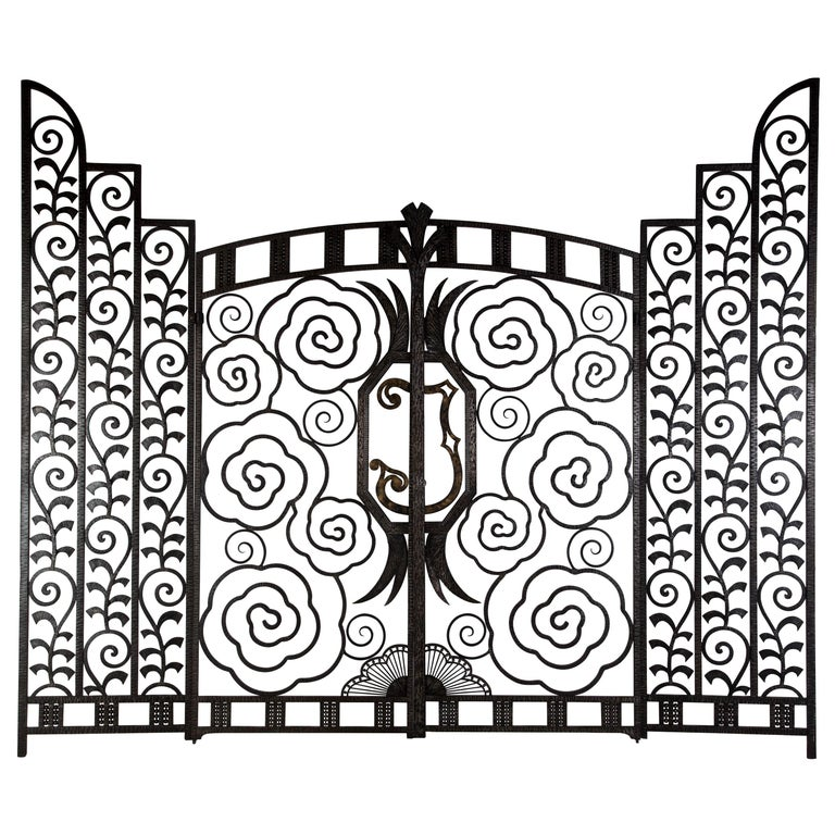 Pair of French Art Deco Gates For Sale