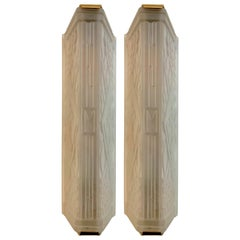 Pair of French Art Deco Geometric Wall Sconces