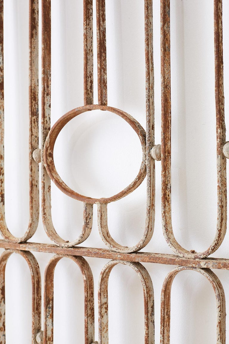Pair of French Art Deco Iron Doors Gates or Grills For Sale 8