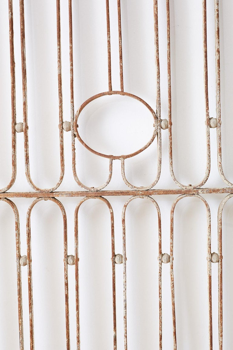 20th Century Pair of French Art Deco Iron Doors Gates or Grills For Sale