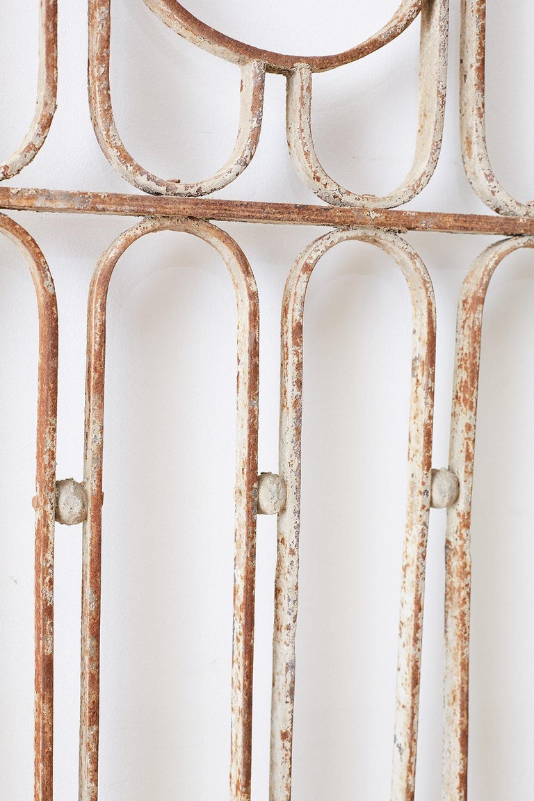 Pair of French Art Deco Iron Doors Gates or Grills For Sale 2