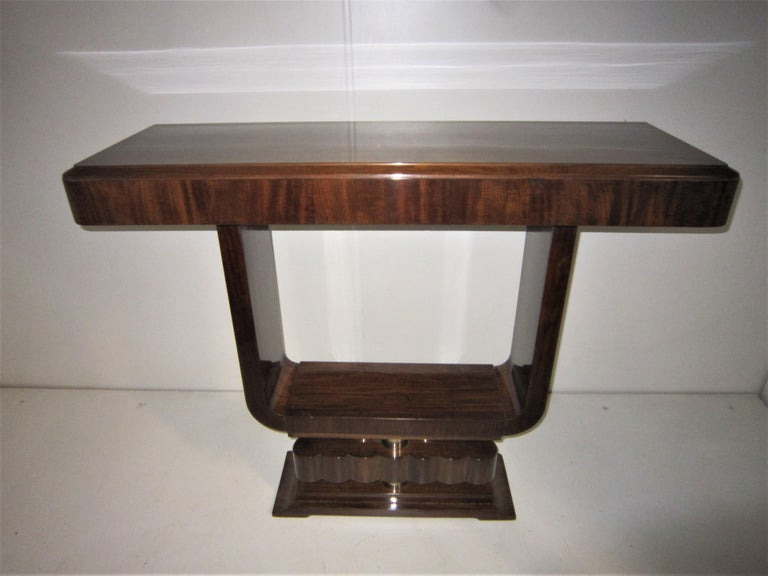Pair of French Art Deco/ Modernist Cubist Consoles For Sale 6