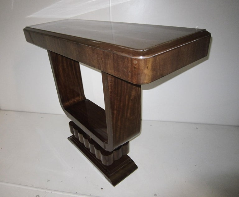 20th Century Pair of French Art Deco/ Modernist Cubist Consoles For Sale