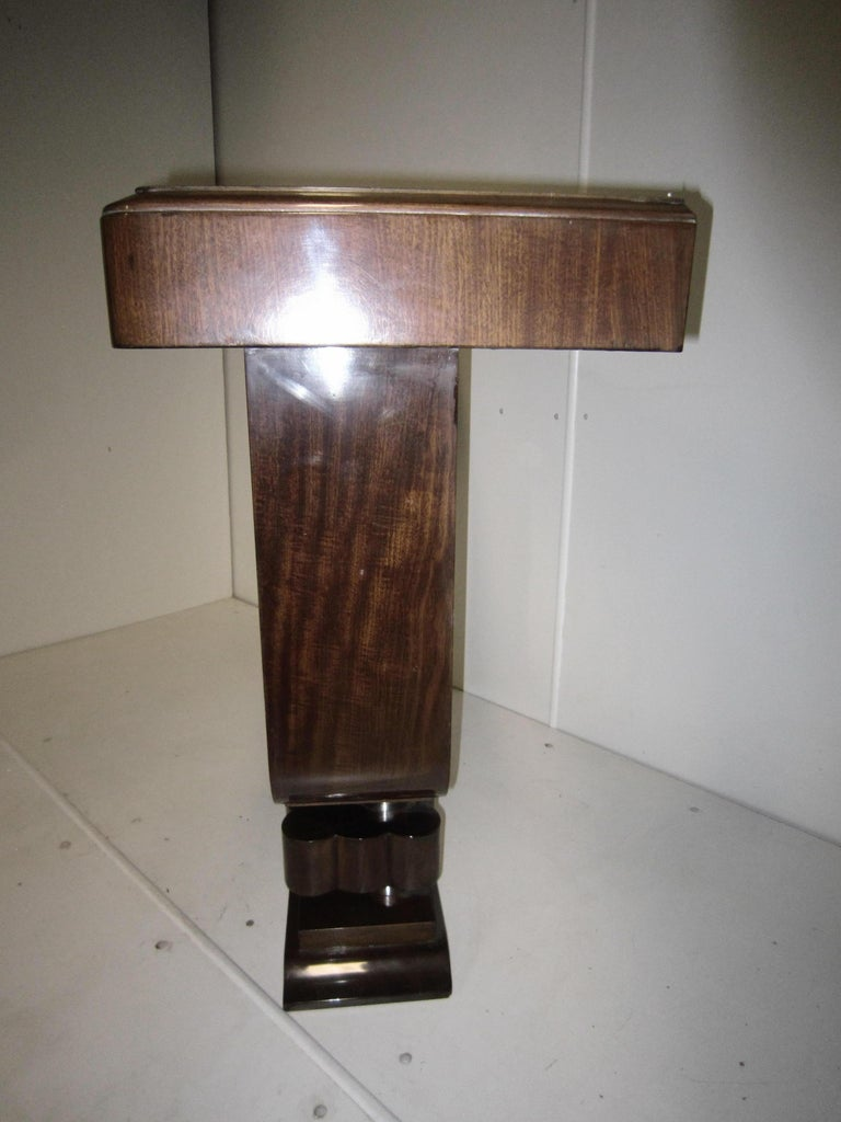 Pair of French Art Deco/ Modernist Cubist Consoles For Sale 2