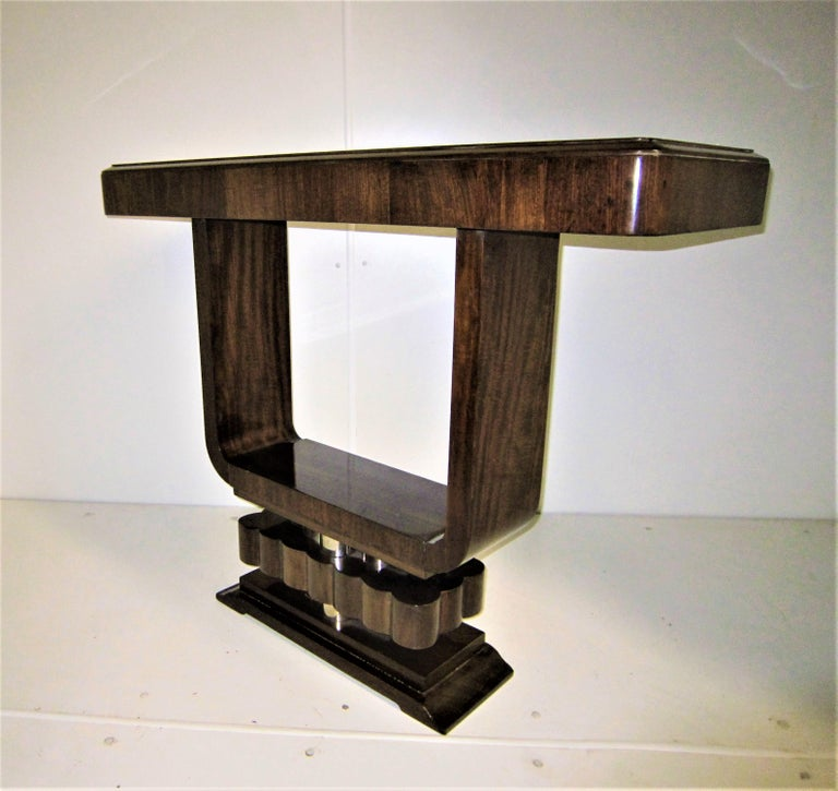 Pair of French Art Deco/ Modernist Cubist Consoles For Sale 4