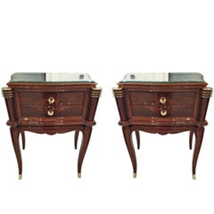 Pair of French Art Deco Nightstands in the Style of Jules Leleu